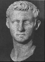 Busto de Caligula, o imperador cruel e depravado
