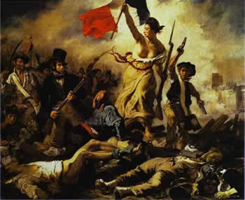 A Liberdade guiando o povo de Delacroix