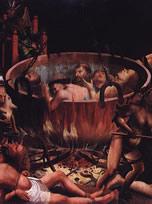 Inferno, detalhe de quadro português anônimo de 1520