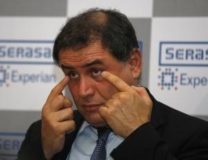 O economista  norte-americano Nouriel Roubini, que ficou famoso por ter sido o  primeiro a prever a crise econômica mundial, no Hotel Hyartt, em São  Paulo