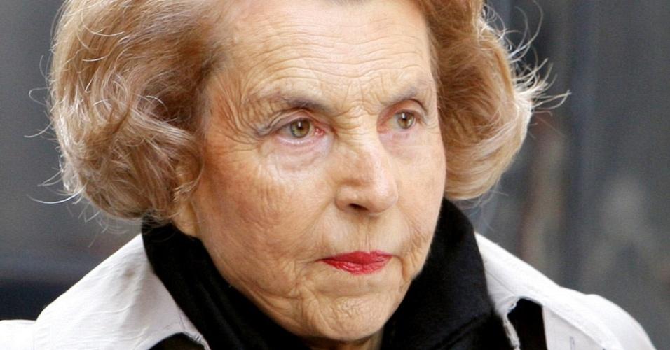 Liliane Bettencourt, mulher mais rica da França e herdeira do império de cosméticos L'Oreal