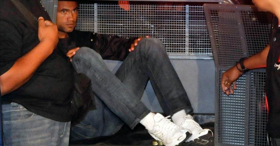 Goleiro Bruno está em prisão de segurança máxima em MG