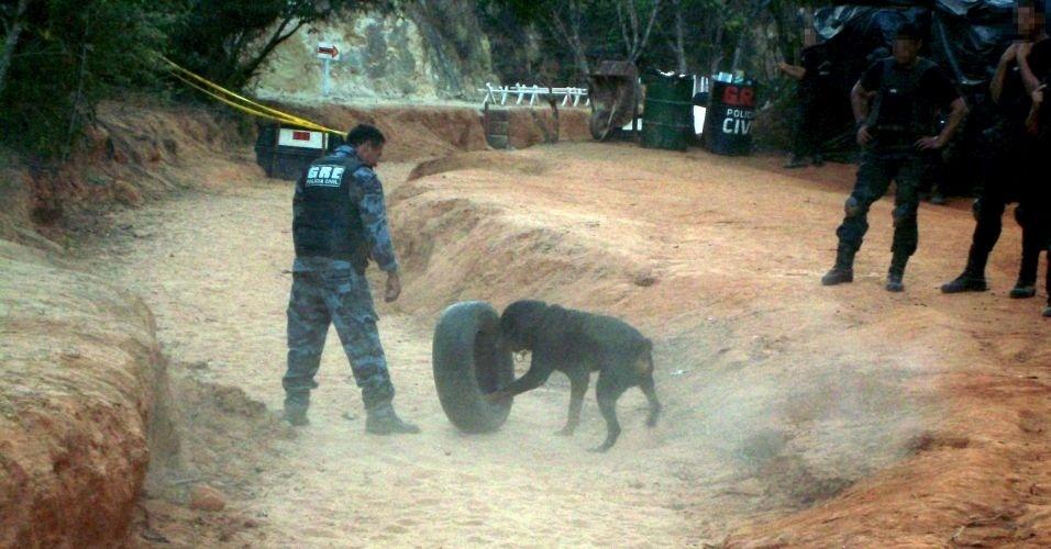 O ex-policial Marcos Aparecido dos Santos, o Bola, treinava policiais em um sítio em Esmeraldas, mesmo exonerado da corporação; ele é suspeito no caso do desaparecimento de Eliza Samudio, ex-amante do goleiro Bruno, do Flamengo
