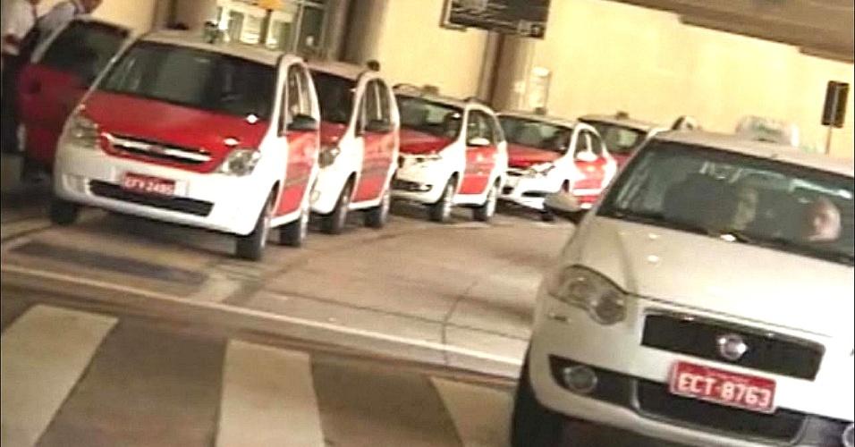 Táxis em SP, no aeroporto de Congonhas