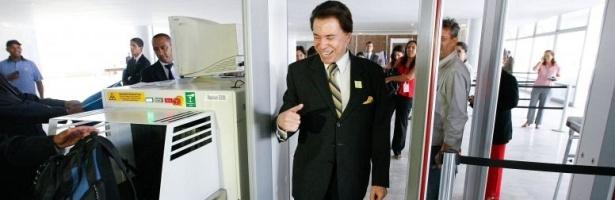 Silvio Santos proprietário do SBT, chega ao Palácio do Planalto, para encontro com o presidente Luiz Inácio Lula da Silva