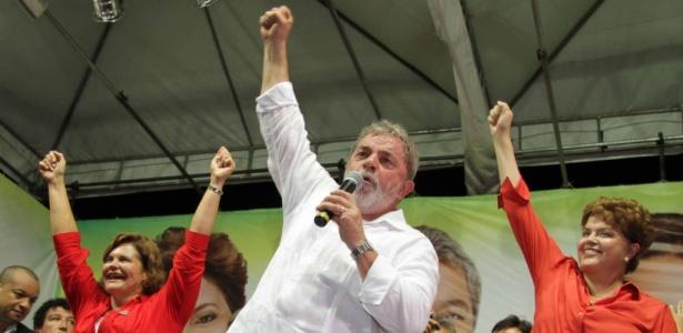Comício no Pará com Ana Júlia Carepa, Lula e Dilma Rousseff na quinta-feira (14)