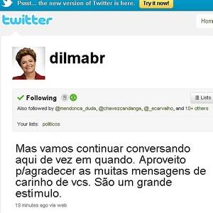 Dilma volta ao Twitter