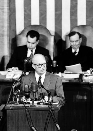 O político norte-americano Dwight D. Eisenhower