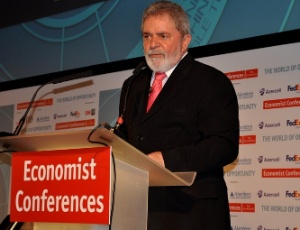 Ex-presidente Luiz Inácio Lula da Silva em palestra