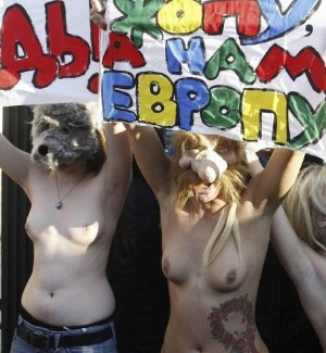 Femen protesta na Ucrnia