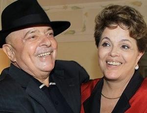 A presidente Dilma Roussef e o ex-presidente Luiz Inácio Lula da Silva