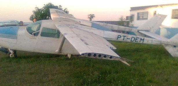 Imagem mostra uma das aeronaves que foi leiloada nesta terça-feira