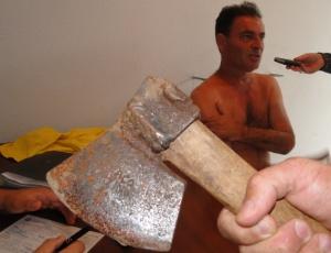 Lenoir Gomes Pereira, de 47 anos, que confessou ter decapitado a golpes de machado três filhotes