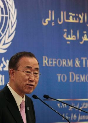 Secretário-geral da ONU, Ban Ki-moon, faz apelo incisivo para que o presidente da Síria, Bashar al-Assad, pare de matar seu próprio povo