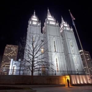 Templo mórmon em Salt Lake City, Utah (Estados Unidos)