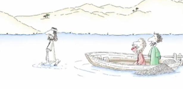 Anúncio da Red Bull mostra Jesus caminhando sobre as águas