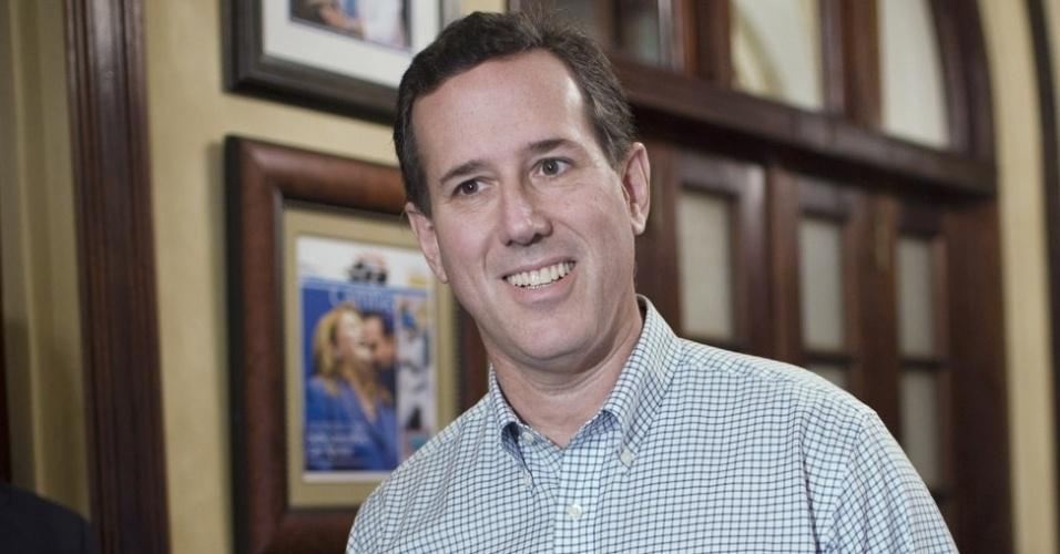O pré-candidato republicano à presidência dos Estados Unidos, Rick Santorum