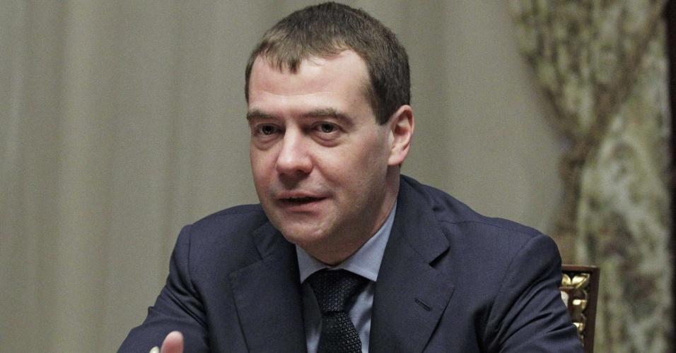 O presidente da Rússia, Dimitri Medvedev