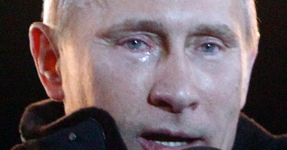 O sensível recém-eleito novo presidente da Rússia e atual premiê do país, Vladimir Putin