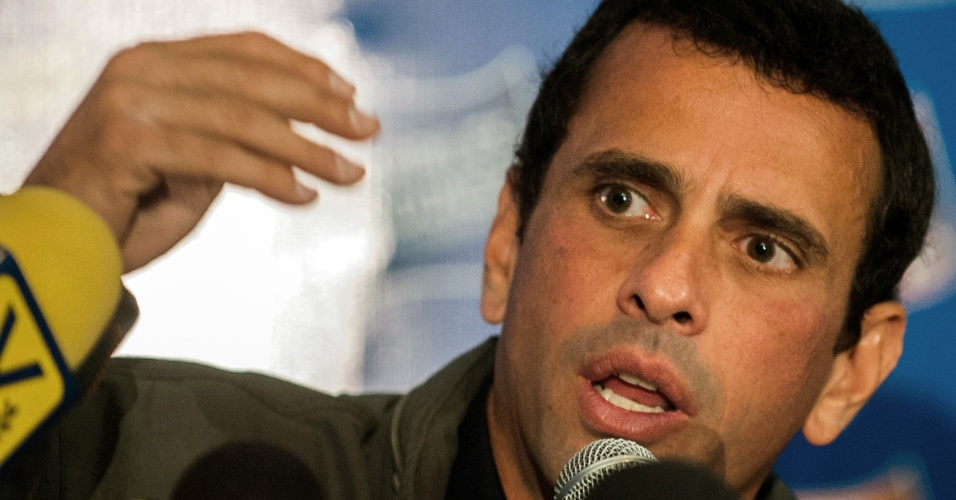 Henrique Capriles, candidato à presidência da Venezuela --e concorrente de Hugo Chavez