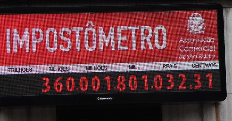 Impostômetro atinge marca de R$ 360 bilhões