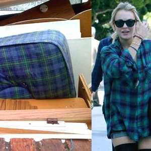 Lindsay Lohan, escandalizando de azul
