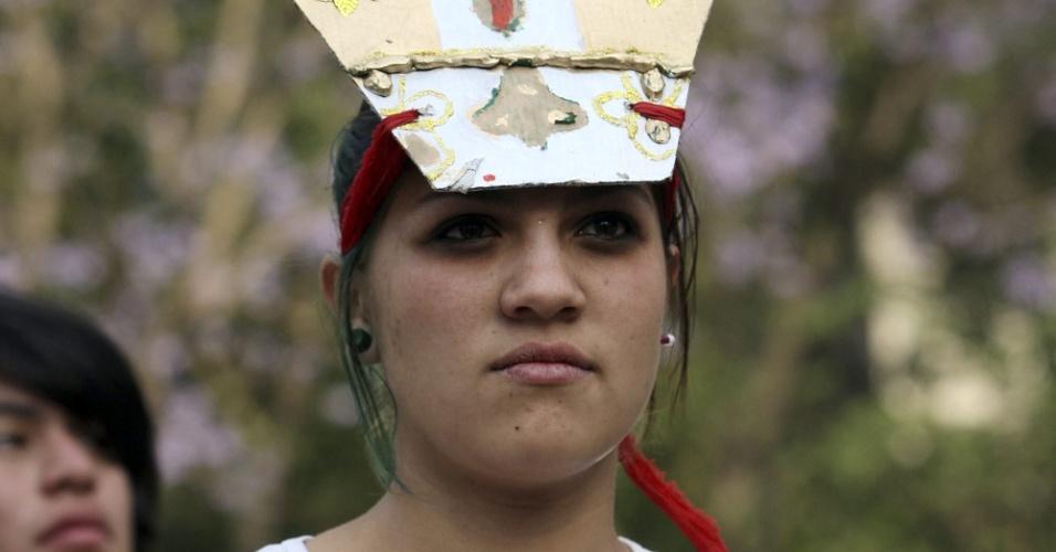 No dia da chegada do papa, jovens  da Cidade do México protestaram contra sua vinda ao país. O Papa deve ficar três dias no México, antes de visitar Cuba