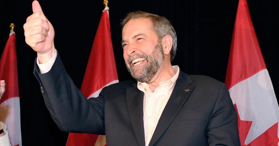 Thomas Mulcair é eleito como líder do Partido Democrático Novo (NDP) neste domingo (25), em Toronto, no Canadá. Mulcair é sucessor de Jack Layton, que faleceu no ano passado
