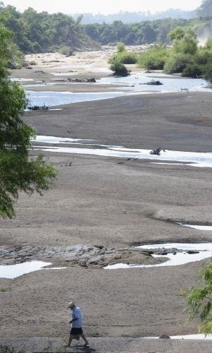 Imagem tirada ontem (5) e divulgada nesta sexta-feira mostra o Rio Vacacaí
