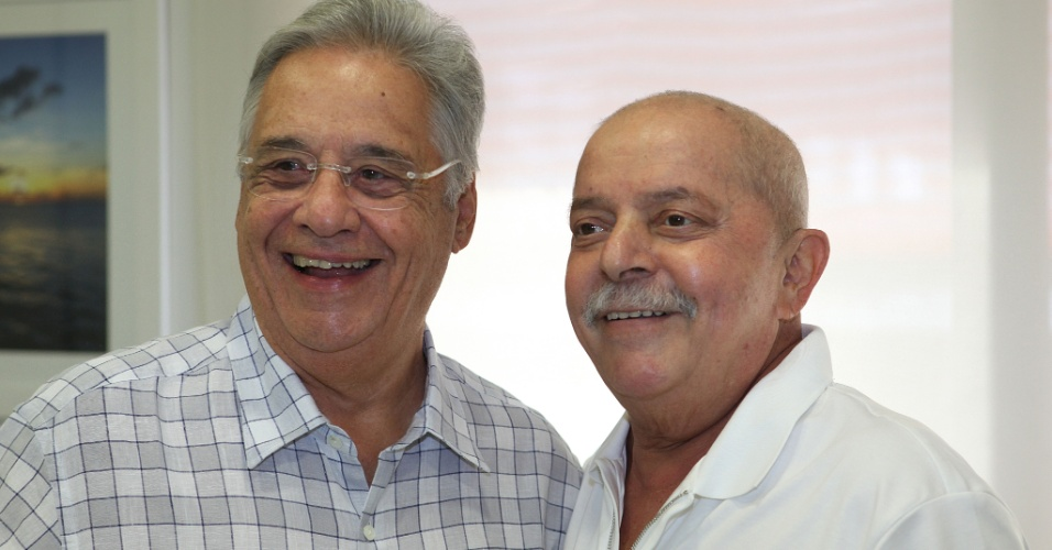 O ex-presidente Fernando Henrique Cardoso visitou no ex-presidente Luiz In&#225;cio Lula da Silva, em S&#227;o Paulo