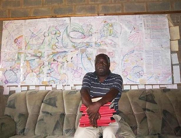 Guia turístico: o sulafricano e seu mapa do céu