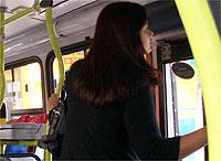 Esta é a mulher que me pediu ajuda no ônibus