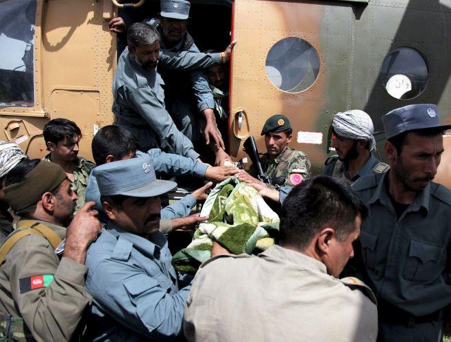 Resgate das vítimas do acidente aéreo no Afeganistão