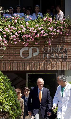 Rei da Espanha deixa hospital