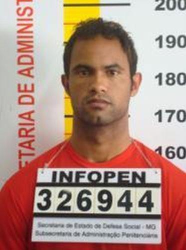 Ficha de identificação do ex-goleiro do Flamengo, Bruno Souza, na Penitenciária Nelson Hungria em Contagem (MG)