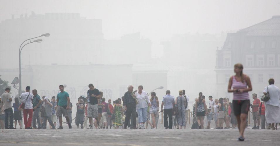 Fumaça em Moscou