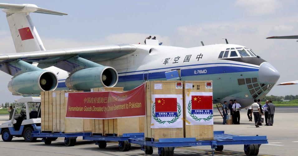 Ajuda chinesa para vítimas das chuvas no Paquistão