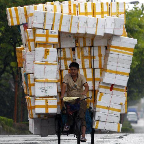Transporte de triciclo
