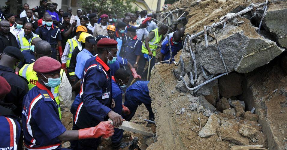 Desabamento na Nigéria
