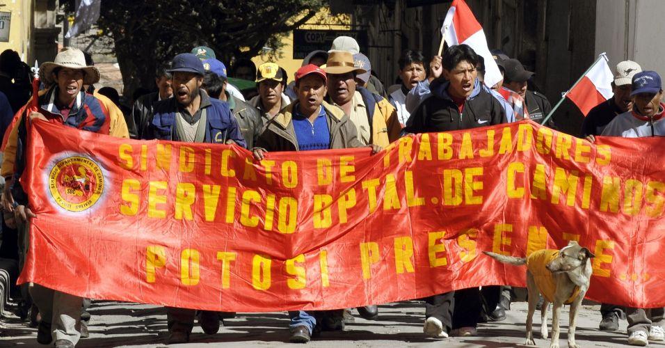 Manifestação na Bolívia