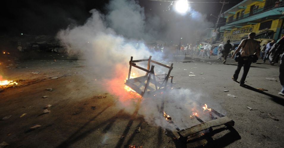Manifestação contra resultado das eleições no Haiti