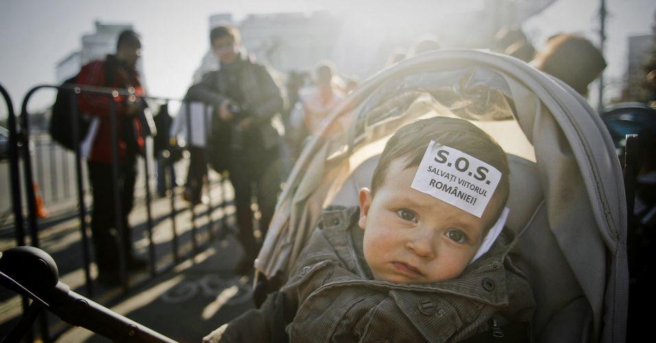 Protesto na Romênia