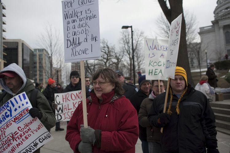 Protesto em Wisconsin (EUA)