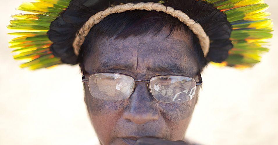 Índio da tribo suiá