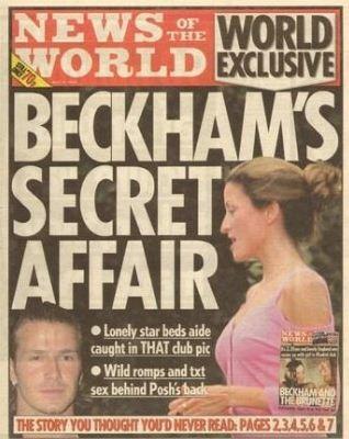 Edição de abril de 2004 - Capa com suposto caso extraconjugal do jogador inglês David Beckham