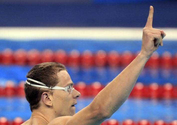 Cesar Cielo conquistou a medalha de ouro nos 50 m livres do Mundial de Esportes Aquáticos em Xangai (China). O brasileiro confirmou seu favoritismo na prova