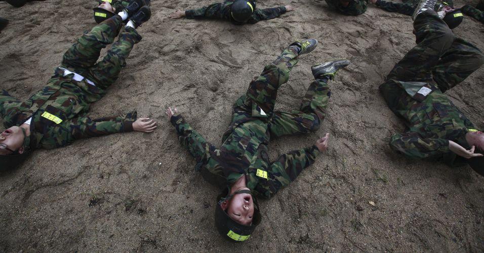 Acampamento militar na Coreia do Sul