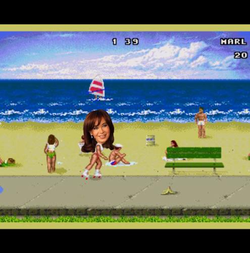O JOGOCalifornia GamesA REALIDADEA corrida de Cristina Kirchner à reeleiçãoA ADAPTAÇÃOQualquer candidato enfrenta uma série de desafios para conquistar votos e conseguir ser eleito. A maratona inclui debates, discursos em palanques, muitos apertos de mão, corpo a corpo, entre outras provas. Até parece uma Olimpíada. Pois é uma competição com várias modalidades que Cristina Kirchner terá que enfrentar até as eleições presidenciais na Argentina de outubro, incluindo eleições primárias. Ela poderia ser fonte de inspiração para qualquer jogo que reúne várias modalidades esportivas, como os radicais