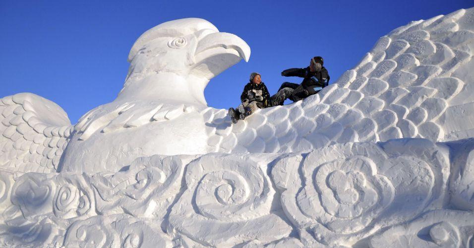 Escultura de gelo na China