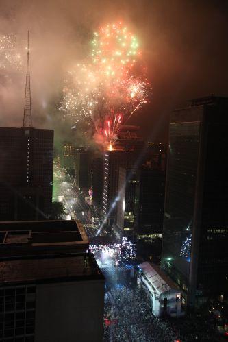 Fogos na Avenida Paulista